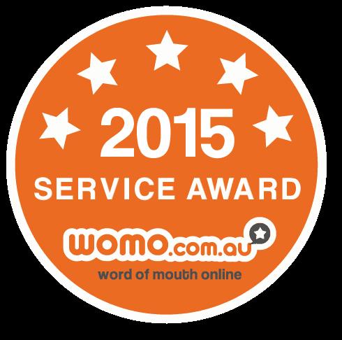 WOMO.com.au Service Award 2015